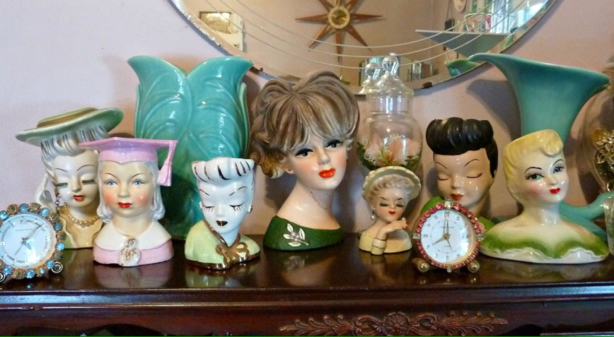 The Joy Of Collecting Lady Head Vases Midtown Mercantile Merc