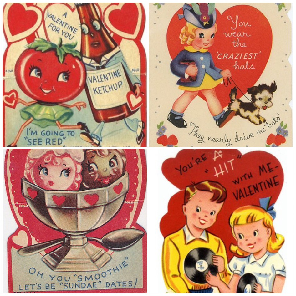 Those 50s And 60s Vintage Valentines Midtown Mercantile Merc